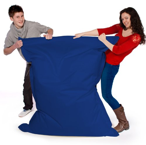 Big Brother Beanbags X-L funky bean bags, great for indoors or outdoors (BLUE)