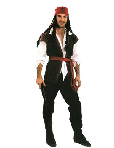 LaLaMa Men's Halloween Pirates Robes Costume Party Cosplay Adult Clothes