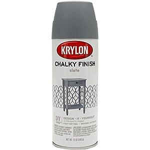 Krylon K04103000 Chalky Finish Spray Paint Slate
