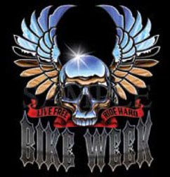 Bike Week T-shirts, Chopper T-shirts, Biker T-shirts, Small, Black