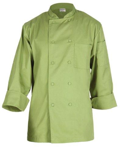 Chef Works 2833-Lim Basic Chef Coat, Lime Green, Medium