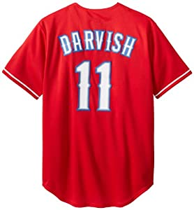 MLB Texas Rangers Yu Darvish Red Alternate Replica Baseball Jersey, Red by Majestic