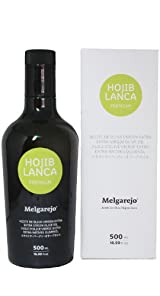 Melgarejo Hojiblanca Premium - Award Winning Cold Pressed EVOO Extra Virgin Olive Oil, 2012-2013 Harvest, 17-Ounce Glass bottle
