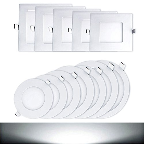 Genssi® Led Ceiling Panel Light Down Lamp Round (6K Cool White)