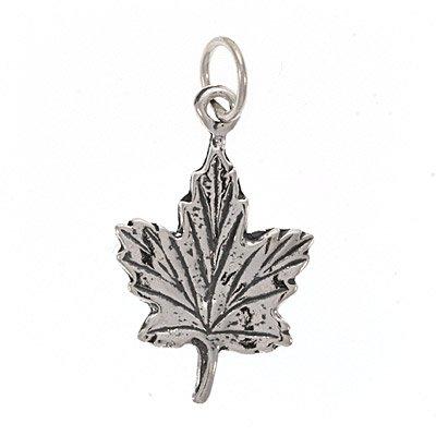 Sterling Silver Charm Maple Leaf - Representing Canada, Hockey, or Autumn