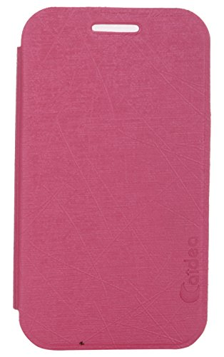 iCandy Soft TPU Non Slip Back Shell PU Leather Hybrid Flip Cover for Samsung Galaxy Ace 4 LTE G313 - PINK  available at amazon for Rs.135