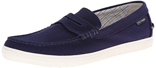 Cole Haan Men's Pinch Canvas Weekender Loafer, Peacoat Fabric/White, 9 M US (Cole Haan Grant Lte compare prices)