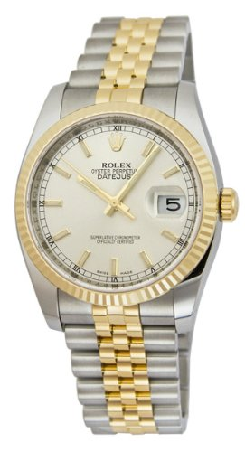 Rolex Watches - Datejust 36mm - Steel and Gold Yellow Gold - Fluted Bezel - Jubilee