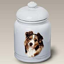 Australian Shepherd Red - Tamara Burnett Treat Jars