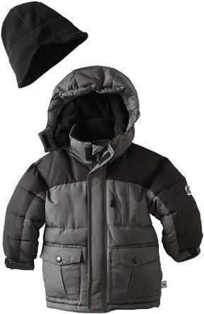 (3折)Rothschild Boys 8-20岁男生穿 带帽滑雪服Jacket灰$24.93