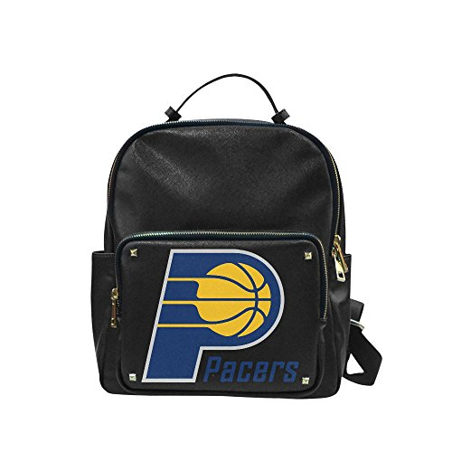 Navarro 2016 NBA Indiana Pacers IND Logo Unisex Leisure Backpack School Leisure Shoulder Bag (Fort Wayne Indiana Shopping)