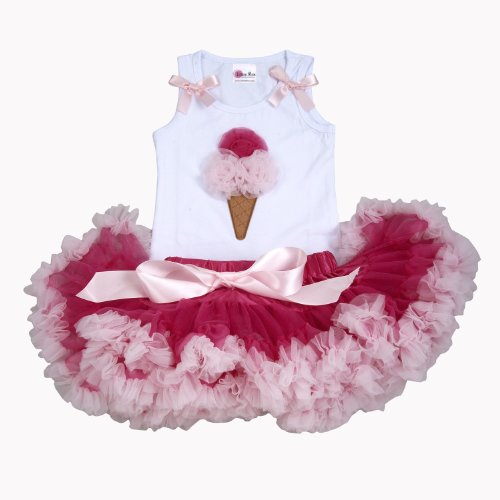 1St Birthday Outfits For Girls Lollipop Moon Ice Cream Cone Couture Tutu Set front-12839