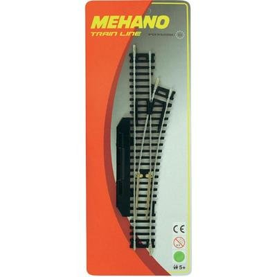 MEHANO TRAIN LINE – HO Scale Accessories, RIGHT MANUAL SWITCH R457,2mm/228,6 mm