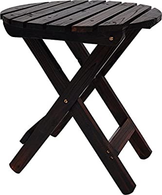Shine Company 4108BB Adirondack Round Folding Table in Natural