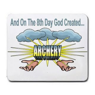 And On The 8th Day God Created ARCHERY Mousepad