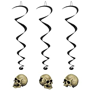 Skull Whirls Party Accessory (1 count) (5/Pkg) from The Beistle Company