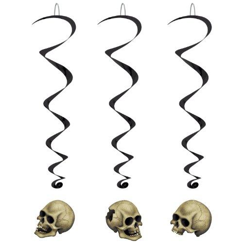Skull Whirls   (5/Pkg)