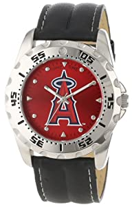 Game Time Mens MLB-WWG-LAA Los Angeles Angels Analog Strap Watch and Wallet Set by Game Time