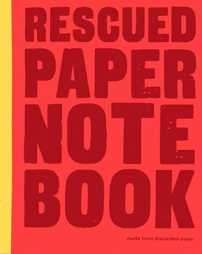 Image of Rescued paper notebook - large - red
