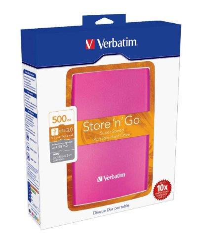 Disque dur externe portable Store 'n' Go USB 3.0 - 500 Go - rose