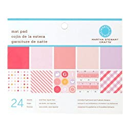 Martha Stewart Crafts Mat Pad 4 3/4'' X 6 3/4'' Baby Girl By The Package
