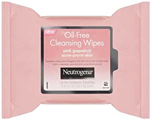 Neutrogena Cleansing Wipes, Pink Grapefruit, 25 Count