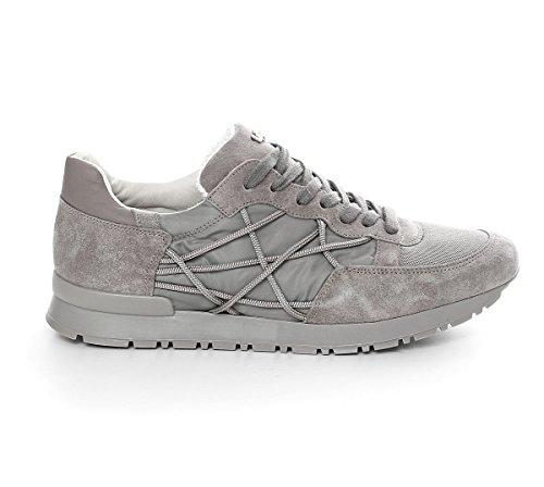 Scarpe Sneakers L4K3 LAKE Unisex Mr BIG Cube Nylon Camoscio Pelle Grigio (36 EU)