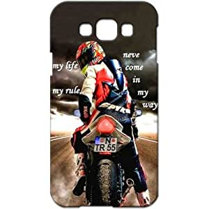 Crackndeal QUT62 Back cover for Samsung Galaxy E7, (Multi-coloured)