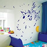 Small Music Note Children Nursery Art Wall Stickers / Wall Decals / Wall Mural-Grey