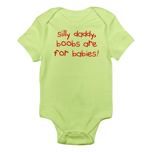 Cafepress Silly Daddy Infant Bodysuit - 0-3M Kiwi front-487507