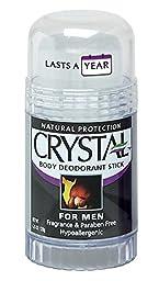 CRYSTAL BODY DEODORANT Stick for Men - Unscented (4.25 fl oz)