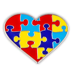 Autism Awareness Heart Shaped Puzzle 1