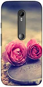 Snoogg Miniature Rosessolid Snap On - Back Cover All Around Protection For Mo...