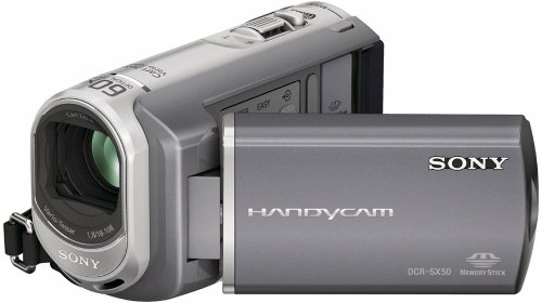 Sony DCRSX50E Handycam Camcorder With 16GB Internal Memory (11hrs) - Silver