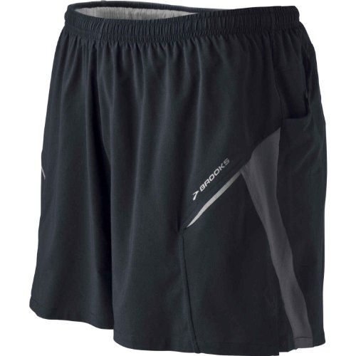 Brooks Brooks Men's Sherpa III Short, Black/Earl, Large