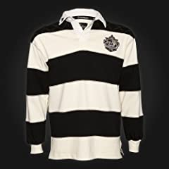 Guinness Rugby Shirt - Mens - Cream Black Stripe