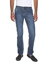 VUDU Men's Blue Slim Fit Light Weight Denim Jeans - B01GE4ZPZU
