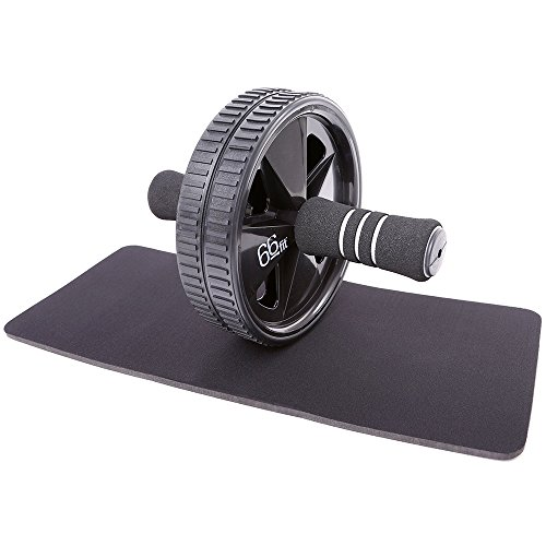 66fit Ab Roller Wheel & Knee Pad - ABS Core Abdominal Workout...