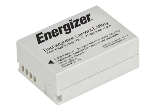 Energizer ENB-C10L Digital Replacement Battery NB-10L for Canon G1X, G15, SX-40 and SX-50 (Black) (Cameras Sx 50 compare prices)