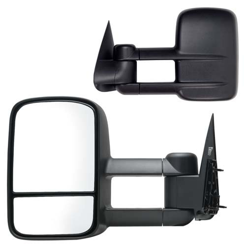 Fit System 62073-74G Chevrolet/GMC Driver/Passenger Side Replacement Manual Foldaway Towing Mirror Set with Dual Glass (Silverado Towing Mirrors compare prices)