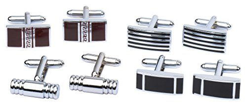 4-Pairs-of-Classic-Cufflinks-By-Mens-Collection