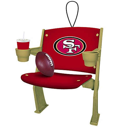 San Francisco 49ers Official NFL 4 inch x 3 inch Stadium Seat Ornament
