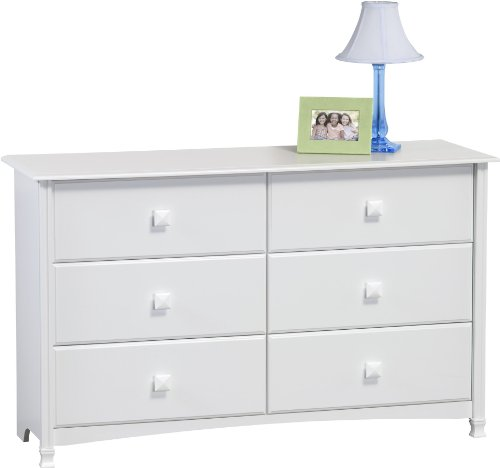 Ameriwood 6-Drawer Dresser, White