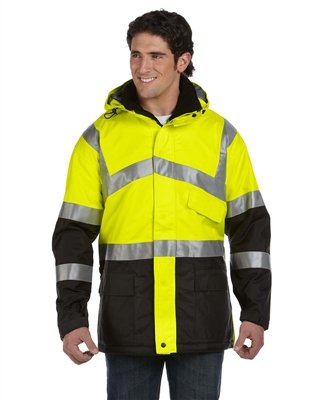 OccuNomix Insulated Cold Weather Parka; Class 3 - SAFETY YEL