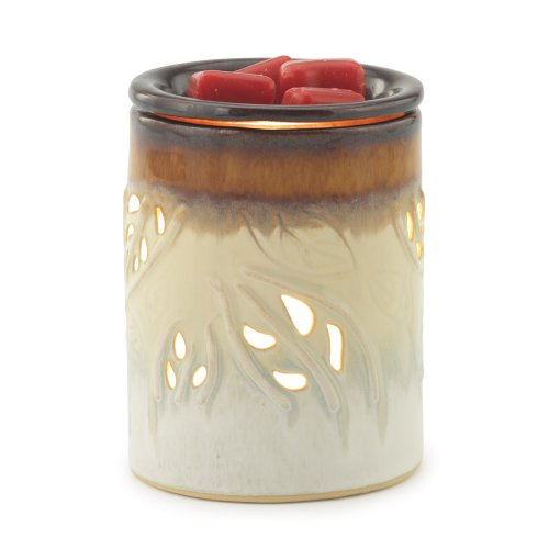 Candle Warmers Etc. Round Illumination Fragrance Warmer- Botanical