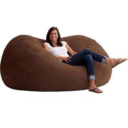 Comfort Research XL 6' Fuf Comfort Suede Bean Bag, Espresso (Comfort Research Espresso compare prices)