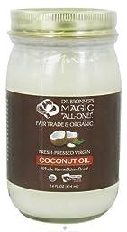 Dr. Bronner\'s - Fair Trade & Organic Fresh Pressed White Kernel Virgin Coconut Oil - 14 oz