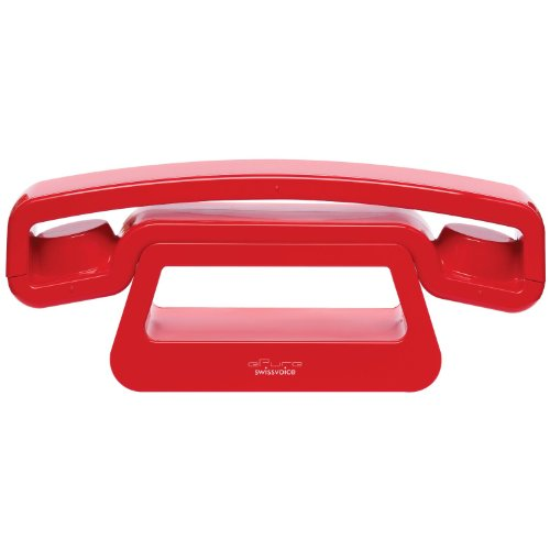 Epure by Swissvoice cordless analogue telephone (DECT) red expandable upto 5 handsets, low power consumption,backlighted 1.4