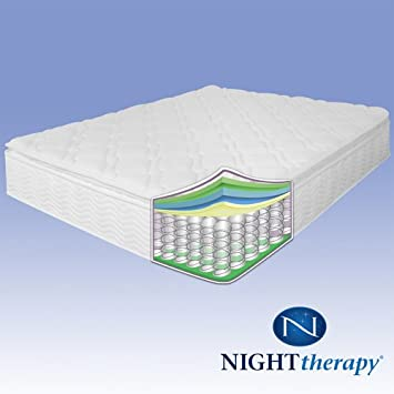 Night Therapy Spring 10 Inch Pillow Top Mattress, Queen