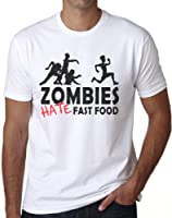 OM3 - ZOMBIES HATE FAST FOOD II - T-Shirt HORROR Halloween MORTS-VIVANTS Sang MONSTER SWAG gym